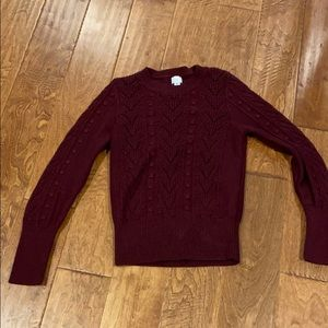 Soft and comfy burgundy sweater